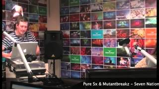 Pure sx & Mutantbreakz  Seven Nation on Lady Waks radio show