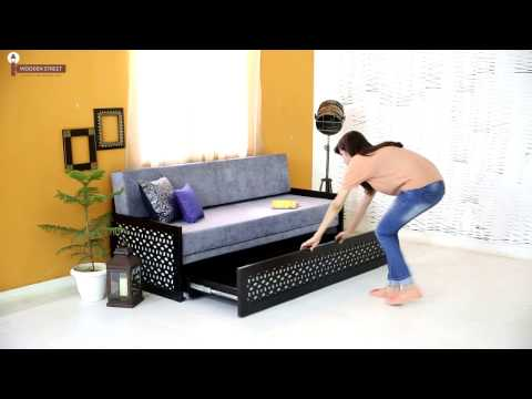 Sofa Cum Beds - Betty Wooden Sofa Cum Bed Living Room Furniture