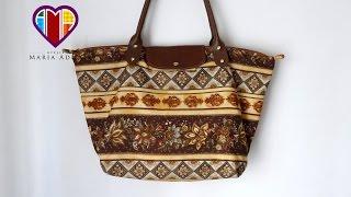 Bolsa sacola de tecidos Pietra – Maria Adna Ateliê