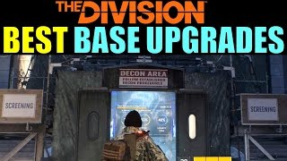 The Division: BEST BASE UPGRADES! | Tips to Level Up Fast & Easy!