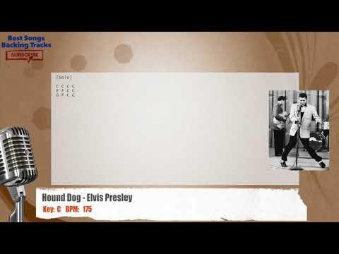 Hound Dog - Elvis Presley Vocal Backing Track with chords and lyrics