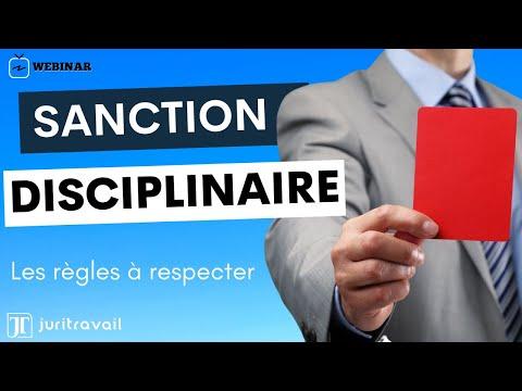 La Sanction Disciplinaire Les Regles A Respecter Webconf