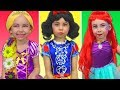 Costumes Disney Princesses Kids Makeup Rapunzel Snow White Little Mermaid & Real Princess Dresses