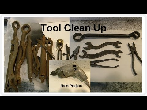 Rusty Wrenches and  Pliers Clean Up & Next Project