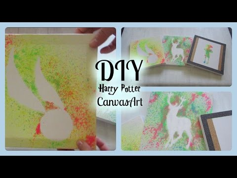 DIY Harry Potter Canvas Designs! I Harry Potter Home Decor Wall Art!
