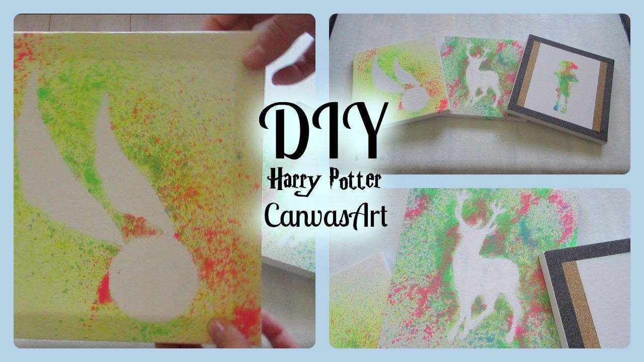 Diy Harry Potter Canvas Designs I Harry Potter Home Decor