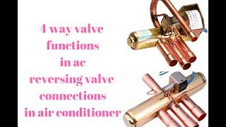 Four Way Valve OR Reversing Valve  Connections And Functions In Air Conditioner Urdu/ Hindi