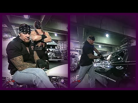 Undertaker Waits For & Attacks Triple H & Stephanie Backstage (Undertaker Gets Arrested)! 3/15/01  