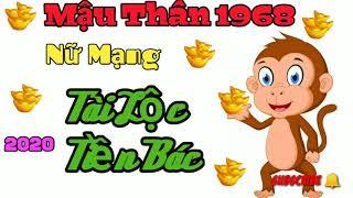 MẬU THÂN 1968 NỮ MẠNG - TỬ VI 2020 SỨC KHỎE SAO CHIẾU MỆNH #mauthan1968 #tuvi2020 #lanvlogs