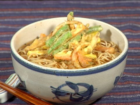Kakiage Soba Noodles (Vegetable Tempura Soba Recipe) かき揚げそば 作り方レシピ