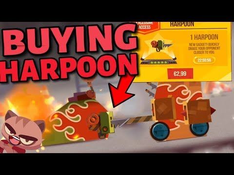 BUYING THE HARPOON IN C.A.T.S - New Gadget/Weapon in Crash Arena Turbo Stars