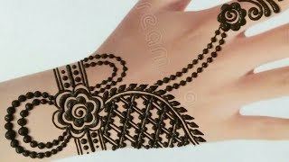 Front Hand Easy Simple Chain Mehndi Designs Easy Mehndi Design