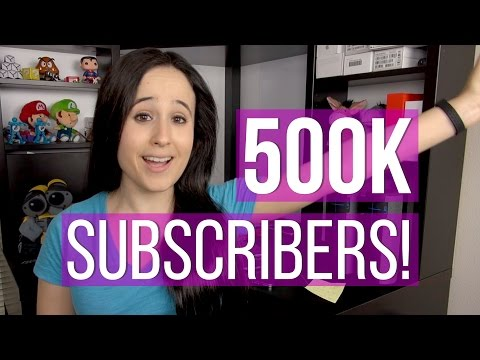Half A MILLION: Giveaways, New Channel, New Website