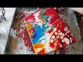 Acrylic Pouring With Red Blue Yellow And White 120 mp3