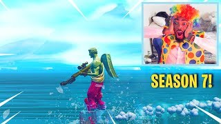 GLITCHING to THE ICEBERG in Fortnite.. (Season 7) - A DAY before it HITS SPawn ISLAND!