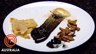 The Golden Egg With Black Garlic Aioli | MasterChef Australia | MasterChef World