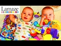 Twins Baby Play Time! DisneyCarToys Twin Sister's  Baby & Adam Snuggle Lamaze Toys Herman DjMullikin