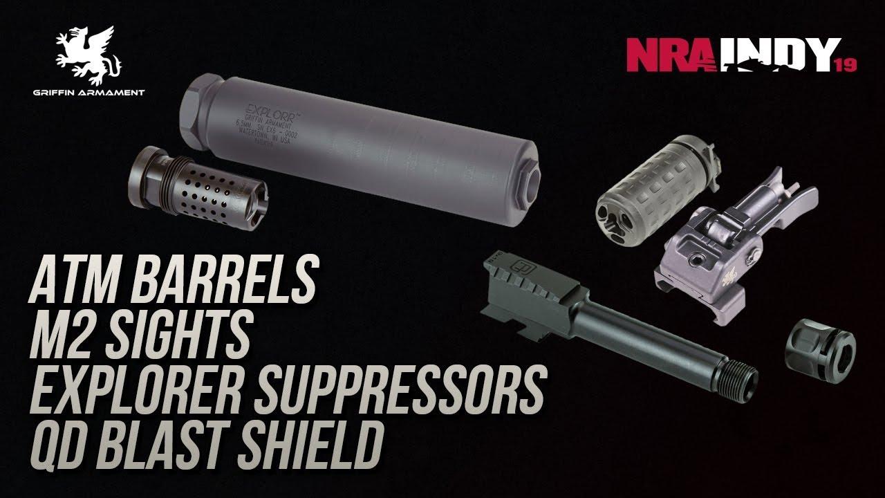 ATM Barrels, M2 Sights, Explorer Suppressors, QD Blast Shield - Griffin  Armament