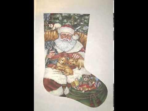 needlepoint christmas stocking canvas - YouTube