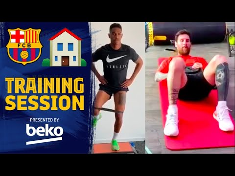 How Barça are training at home! #StayAtHome