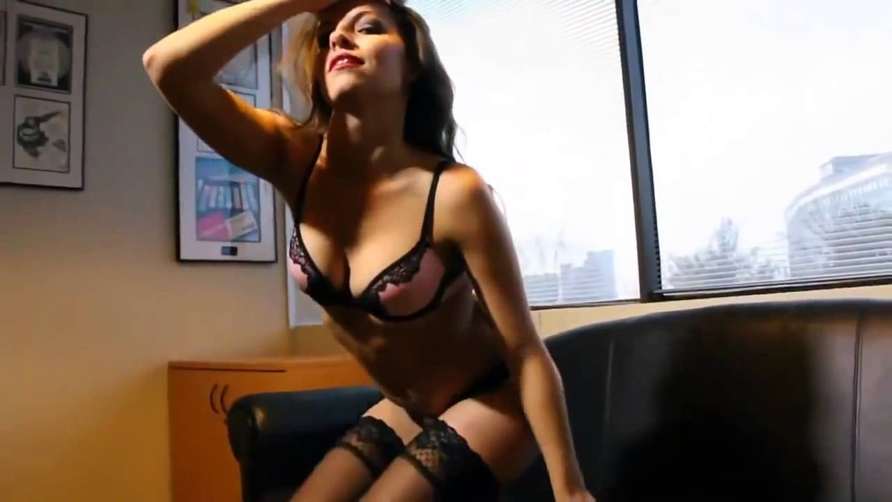 Sexy secretary strip tease