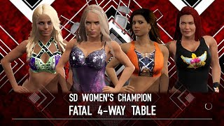 WWE 2K17 - Alexa Bliss VS Lana VS Mickie James VS Lita