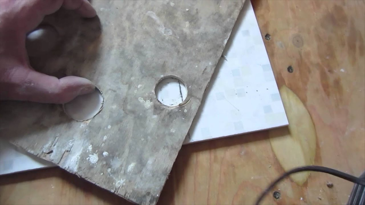 How to drill a hole with a core bit in ceramic tile porcelain how to drill a hole with a core bit in ceramic tile porcelain tile drilling youtube dailygadgetfo Gallery