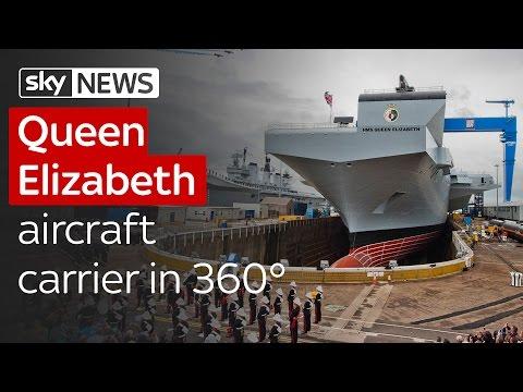 Queen Elizabeth aircraft carrier in 360°
