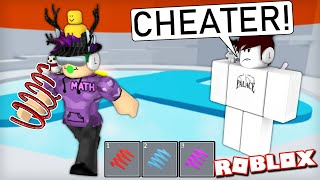 Racing Tower of Hell YOUTUBERS... but I cheat. (Roblox)
