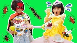 助けて!スーパーヒーロー!隠れた虫を捕まえてお姫様を助けよう!himawari-CH