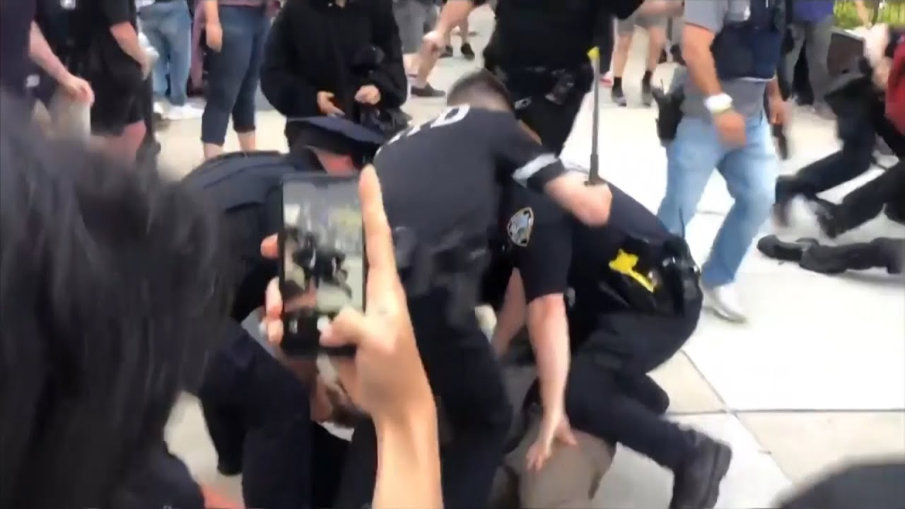Video shows J.R. Smith beating up a protester for allegedly breaking ...