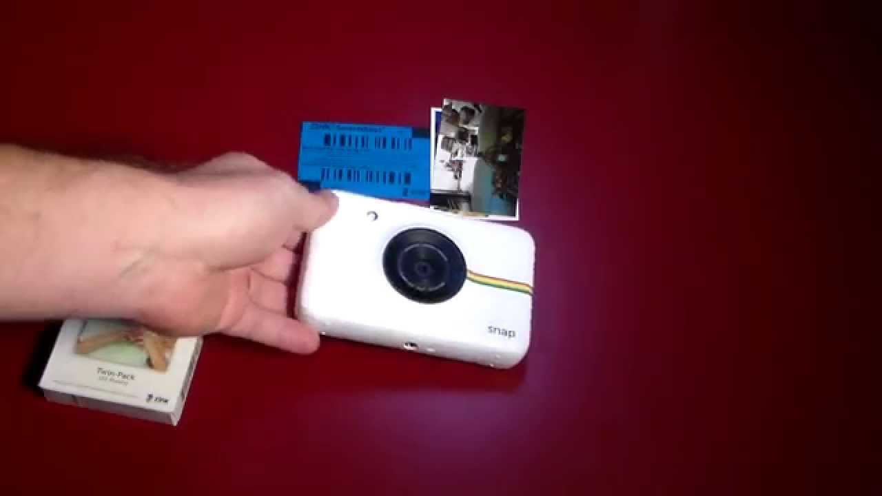polaroid snap print camera instant photos on the go youtube
