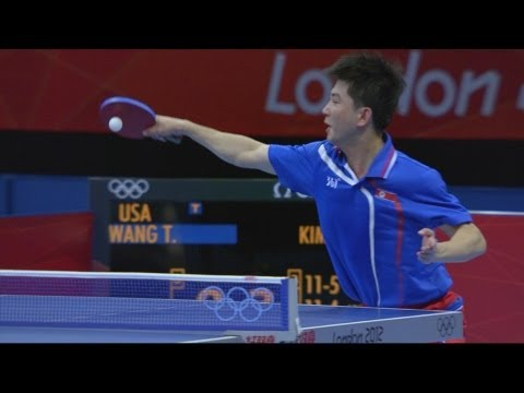 Extended Coverage - Kim v Wang Men's Table Tennis Preliminary Round - London 2012 Olympics