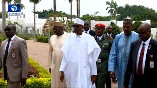 News@10: President Buhari Makes Public Appearance, Attends Friday Prayers 05/05/17 Pt.1