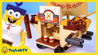 SpongeBob Sponge Out of Water Toys with Mega Bloks Burgermobile