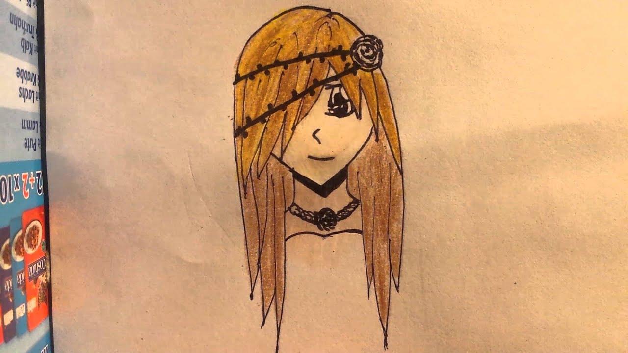 Manga Mädchen Zeichnen Anfänger 2 Färben Youtube