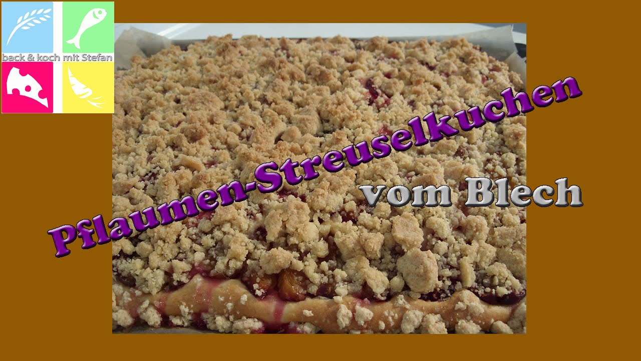 pflaumen streuselkuchen vom blech ohne hefe rezept tutorial youtube. Black Bedroom Furniture Sets. Home Design Ideas
