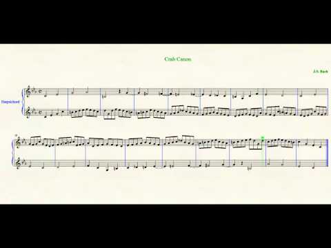 Crab Canon [Backwards] J. S. Bach - The Musical Offering BWV 1079