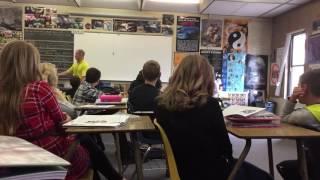 Teacher Dives out of Window