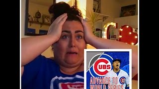 We're going to the World Series Reaction!!  CHICAGO CUBS WIN!! HOLY COW!!
