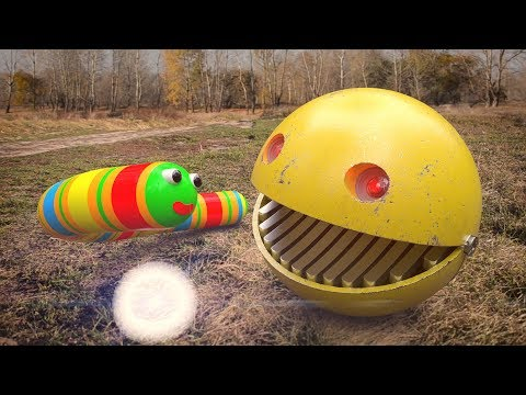 Pac-Man VS Slither.io In Real Life