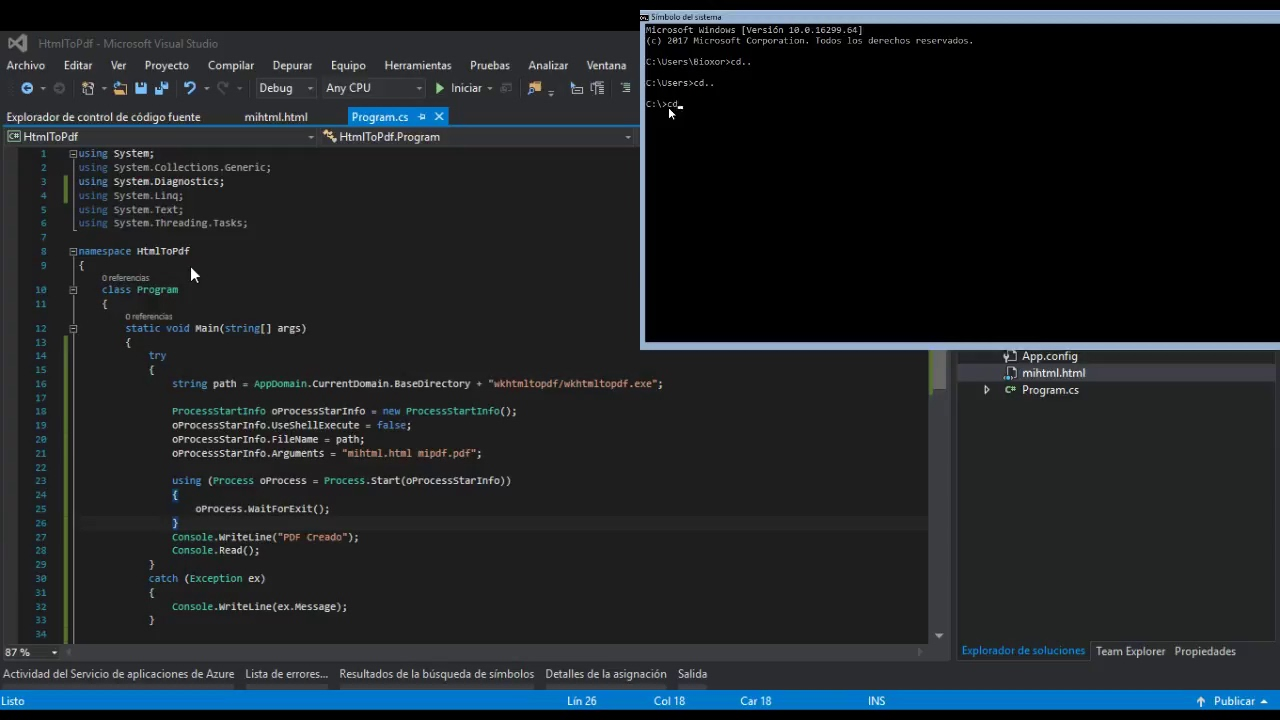 Creación de archivo PDF en C# a partir de un archivo HTML (sin crystal  report, sin itextsharp)