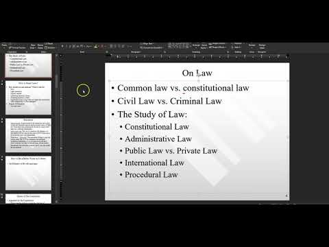 Constitutional Law II, Fall 2020, Intro To Course