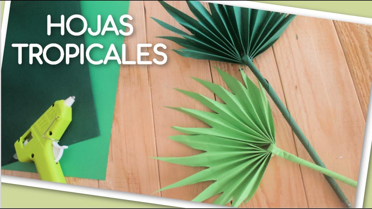 Como Hacer Hojas Tropicales con Solo 1 Folio