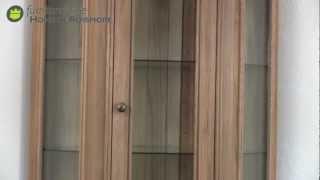 Loren Oak Corner Display Unit