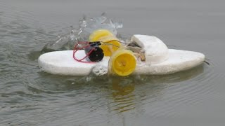 Cara membuat perahu bertenaga listrik | 2 roda