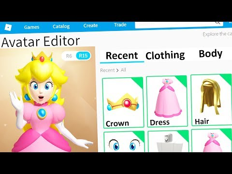 MAKING PRINCESS PEACH A ROBLOX ACCOUNT
