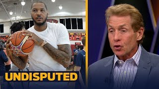 Skip Bayless on reports Melo is signing in Houston: 'Subtraction by addition' | NBA | UNDISPUTED