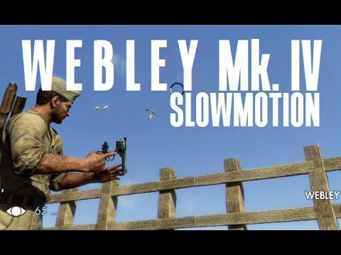 Sniper Elite 3 - Webley Mk.IV Slowmotion |