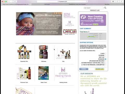 Placing An Order On Your doTERRA Wholesale Account